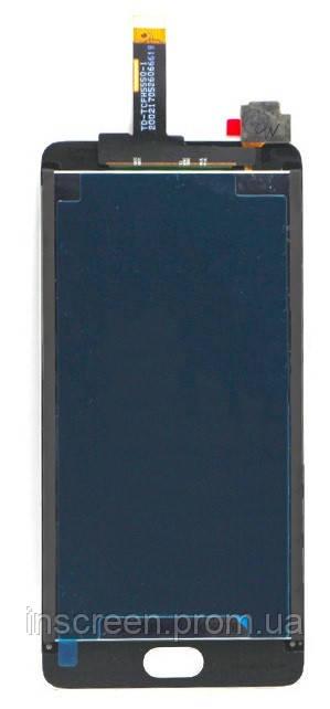 Экран (дисплей) Meizu E2 (M2e) с тачскрином (сенсором) черный, фото 2