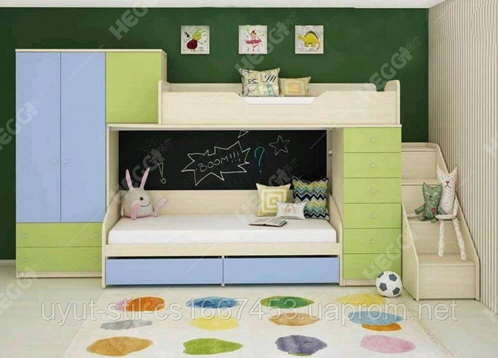 Кровать чердак для двоих детей, Н2