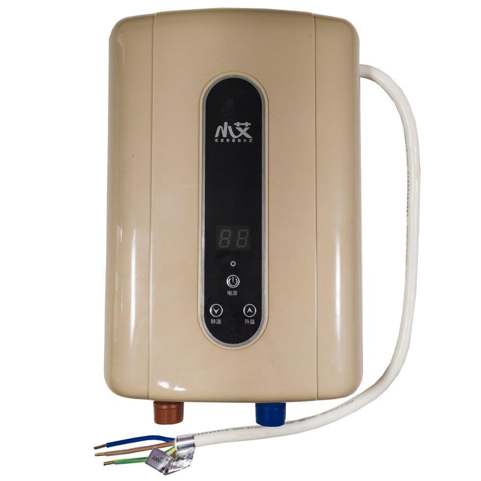 Электрический проточный водонагреватель Nux XA-F60 вертикальный c душем 5500В IPX4 Gold (3670-10572)
