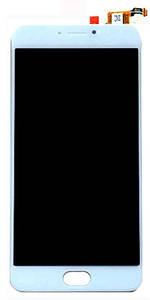 Дисплей Meizu M3 Note L681H з сенсором (тачскрін) білий
