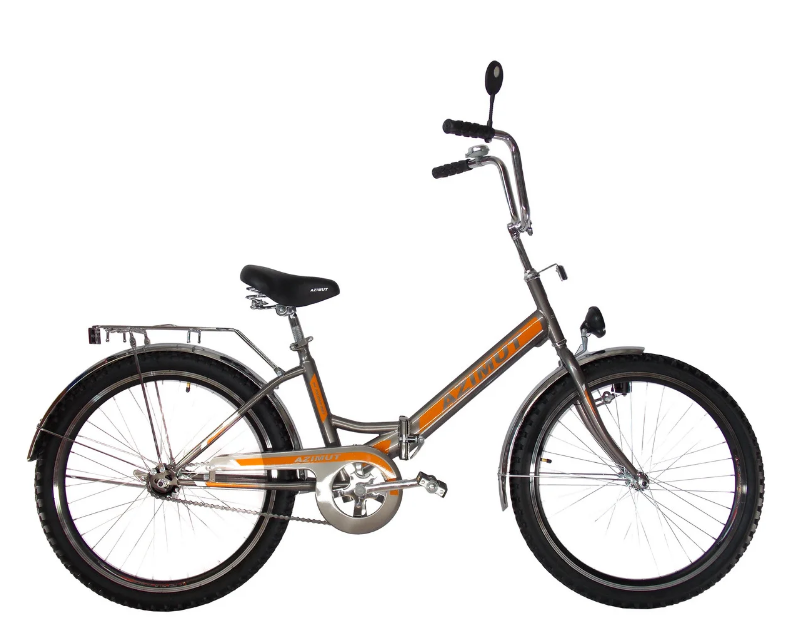 Складной велосипед Azimut 20*2009 (фара) Серо-оранжевый