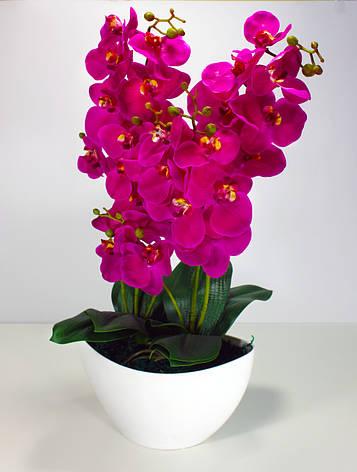 Искуственное растение, орхидея, фиолетовая, фото 2