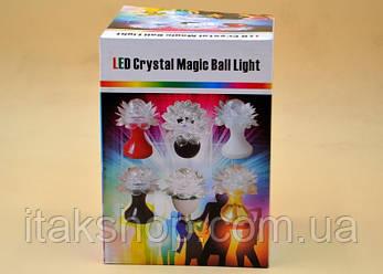 Вращающаяся диско лампа LED CB-0319 светильник цветок, фото 2