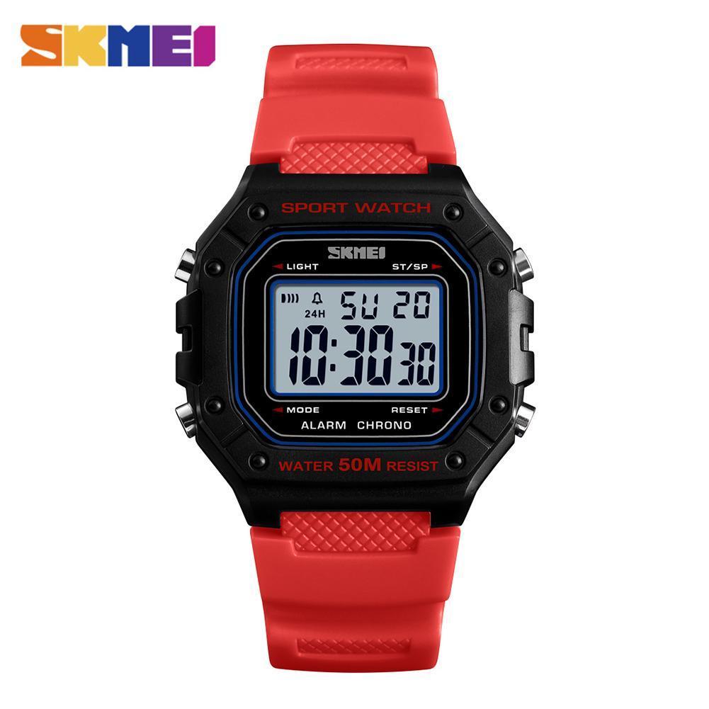 Skmei 1496 красные мужские спортивные часы