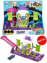 Трек Хот Вилс Веселый дом Джокера Hot Wheels DC The Joker Playset