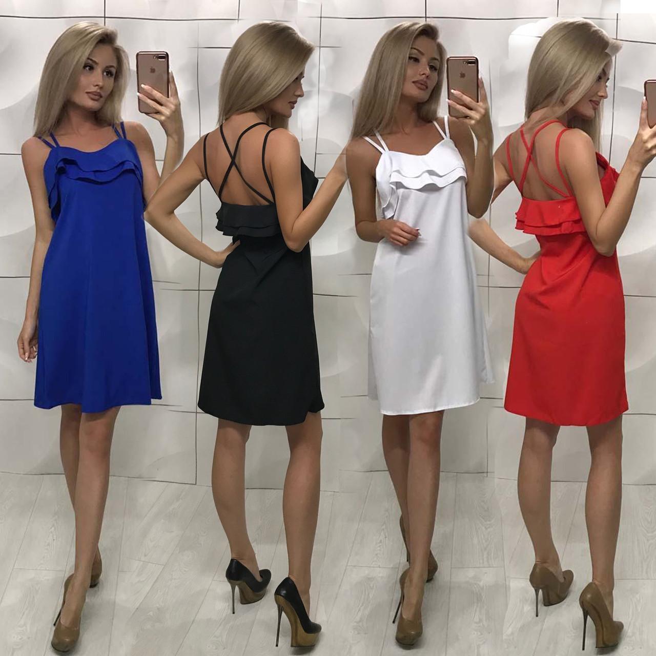 Летнее женское платье свободного кроя /разные цвета, 42-46, ft-1011/