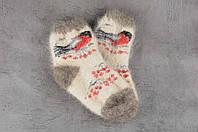 Шерстяные носки детские, носки из козьего пуха, теплые носки, зимние носочки на резинке, длина 16-20 см, фото 1