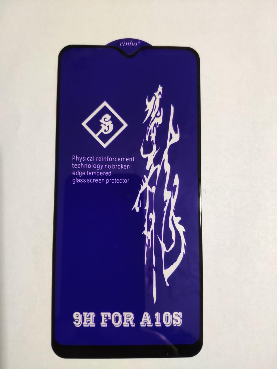 Защитное стекло 6D для Samsung A10S / A107F Full Glue Черное