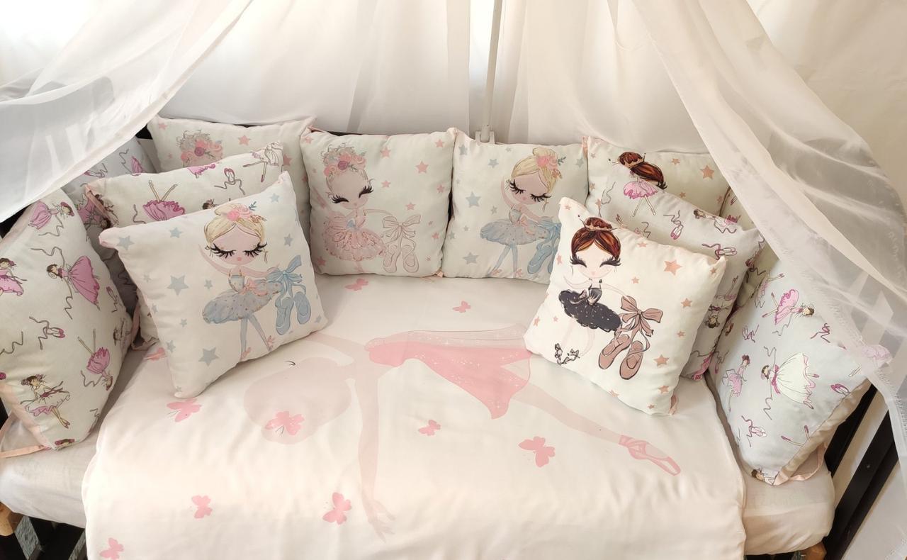 Детский постельный комплект в кроватку Балерина