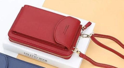Женский клатч Baellerry forever через плечо Красный, сумка кошелёк, сумочка для телефона