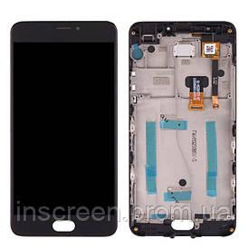 Дисплей Meizu M3 Note M681H з сенсором (тачскрін) і рамкою чорний