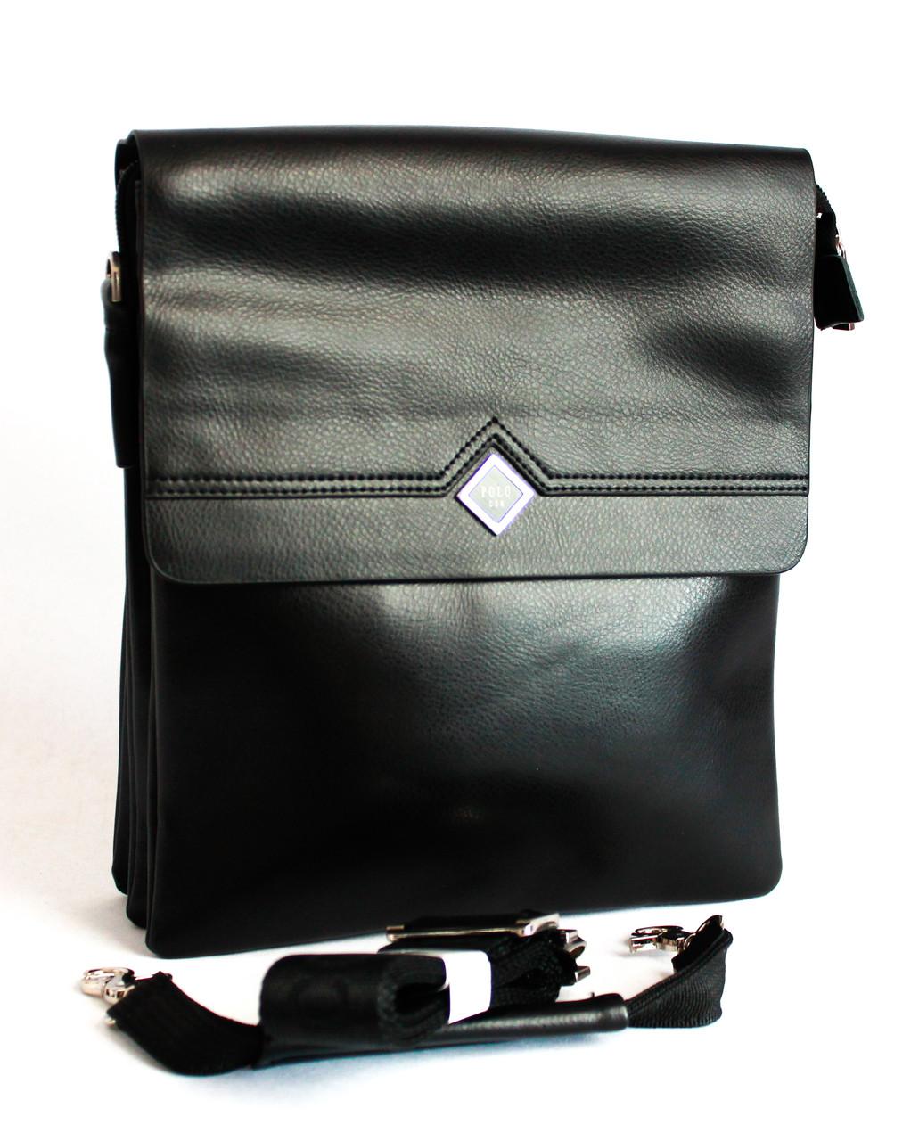 Качественная сумка мужская из кожзама Polo B335-4
