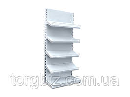 Металлический стеллаж с полками под коробки с кондитерскими изделиями