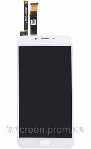 Дисплей Meizu M3e (A680Q) з сенсором (тачскрін) білий