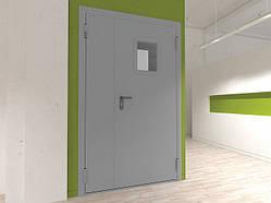 Двери DoorHan технические двухстворчатые остекленные DTO1/1450/2050/7035/R/N
