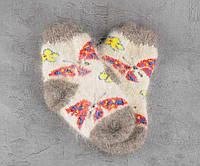 Шерстяные носки, носки из козьего пуха подростковые, 14-18 см, фото 1