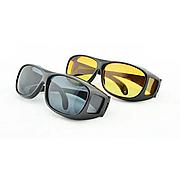 Очки для водителей антифары HD Vision 2шт (желтые, черные), антибликовые очки, полар плюс