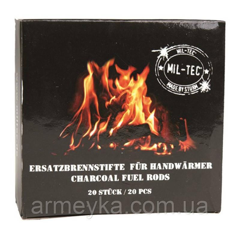 Вугільні стрижні для каталітичної грілки (упаковка 20 штук). Mil-Tec, Німеччина