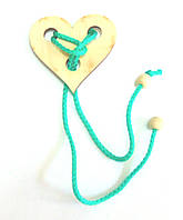 Головоломка веревочная Сердце Крутиголовка krut0147, КОД: 120152