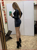"Платье ""Zmeyka"" с лампасами / синий, фото 3"