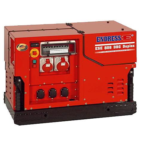 Трехфазный бензиновый генератор ENDRESS ESE 808 DBG ES DUPLEX Silent (5.5 кВт)