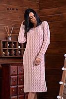 Женское платье вязка чёрный бежевый горчица пудра 42-46, фото 1