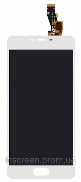 Дисплей Meizu M3s з сенсором (тачскрін) білий, фото 2