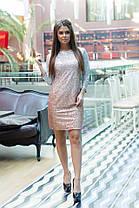 Сукня з напиленням блискітки в кольорах 74750, фото 2