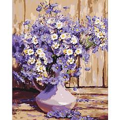Картина по номерам Букет полевых цветов   Идейка 40*50   КНО3020