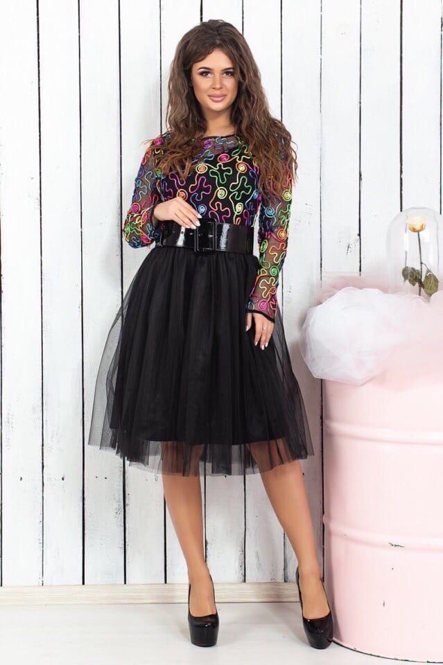 Платье низ фатин 74470