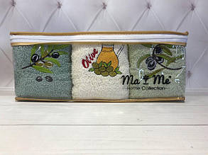 Набор кухонных полотенец Ma&me 001,  6в1 30х50 см. Турция