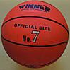 М'яч баскетбольний № 7 Winner Orange гумовий, фото 6