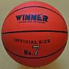 М'яч баскетбольний № 7 Winner Orange гумовий, фото 7