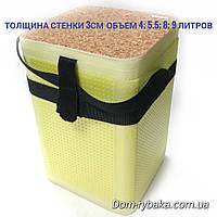 Ведро для живца зимнее 4л 29×15×19см стенка 2см( 9992515)