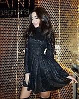 Блестящее платье мини в стиле бэби-долл