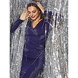 Блестящее вечернее платье из люрекса с длинным рукавом, фото 5