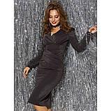 Блестящее вечернее платье из люрекса с длинным рукавом, фото 3