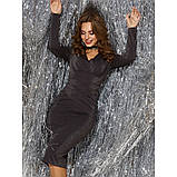 Блестящее вечернее платье из люрекса с длинным рукавом, фото 2