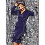 Блестящее вечернее платье из люрекса с длинным рукавом, фото 6