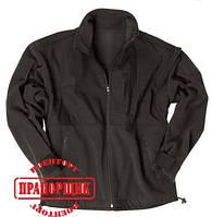 Куртка Mil-Tec BLACK FLEECE JACKET WITH RIPSTOP PATCH