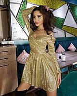 Красивое блестящее платье в стиле бэби долл, фото 1