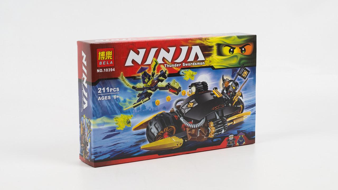 Конструктор Bela.10394. Ninja. Боевой мотоцикл Коула. 4 фигурки