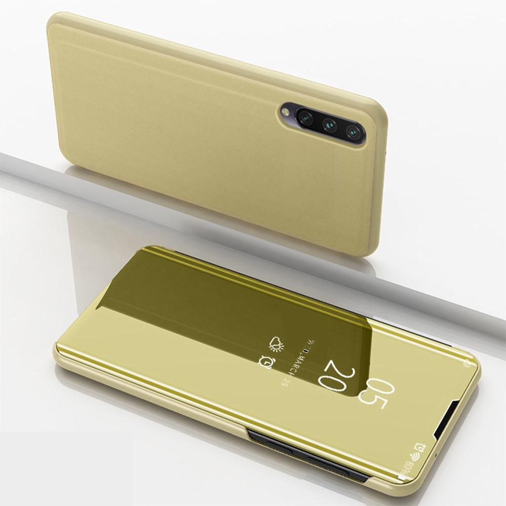 Чехол книжка для Xiaomi Mi A3 | Xiaomi Mi CC9E боковой с зеркальной крышкой, Золотистый