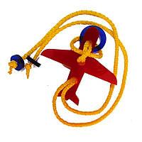 Акриловая головоломка Самолетик Крутиголовка Красный krut0067, КОД: 119790