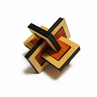 3D-головоломка деревянная Крутиголовка Два в одном krut0029, КОД: 120263