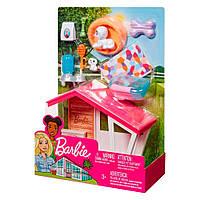 Набор мебели и аксессуаров для дома Barbie Собачья будка    FXG33 / FXG34