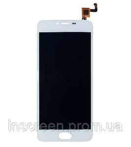Дисплей Meizu M5 M611 з сенсором (тачскрін) білий