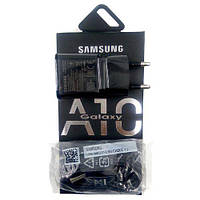 Сетевое зарядное устройство СЗУ Samsung A10 Fast charger (5V-2A/9V-1.6A) 2USB + кабель microUSB  черный
