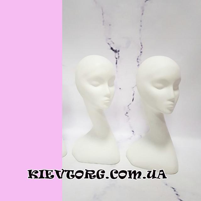 Манекен голова женская для шапок белая с высокой шеей (+ Видео)