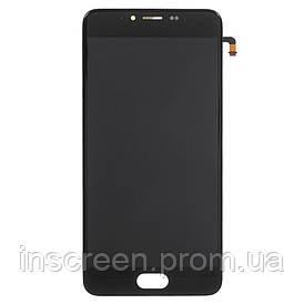 Дисплей Meizu M5 M611 з сенсором (тачскрін) і рамкою чорний